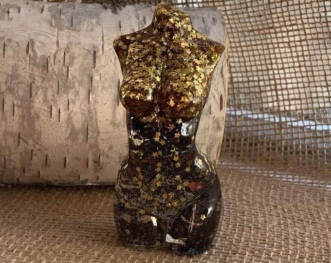 Glitter and Resin Goddess Statue   Goddess Figurine   Resin Statue   Goddess Art   Best Friend Gift   Resin Art   Goddess Gift