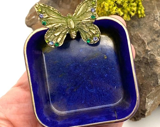 Trinket Dish | Indigo Resin Storage Box | Iridescent Resin Box | Jewelry Storage | Sage GreenTrinket Box | Blue Resin Dish |