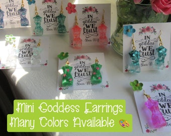 Resin Goddess Earrings   Goddess Earrings   Goddess Jewelry   Witchcraft Jewelry   Gift for Partner   Statement Earrings