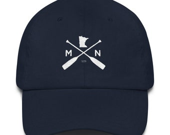 lowest price ff89f e41db Minnesota Outdoors Dad Hat   Outdoors Camping MN   BWCA Canoeing Minnesota  Dad Hat