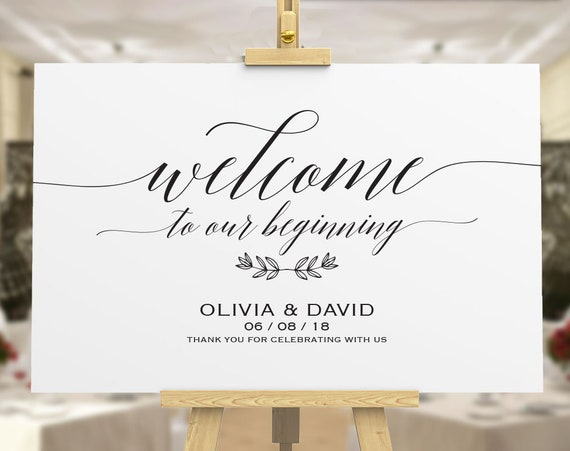 Welcome To Our Wedding Wedding Welcome Sign Template Diy Welcome Sign Printable Welcome Sign Wedding Welcome Poster Ecc 06