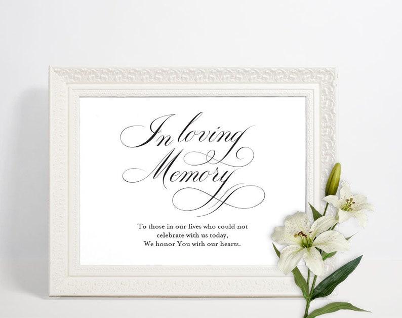 Loving Memory Sign | Memorial Sign | Wedding Memory Sign | In Loving Memory  | Memory Sign | Loved Ones Sign | Memorial Printable | ecc