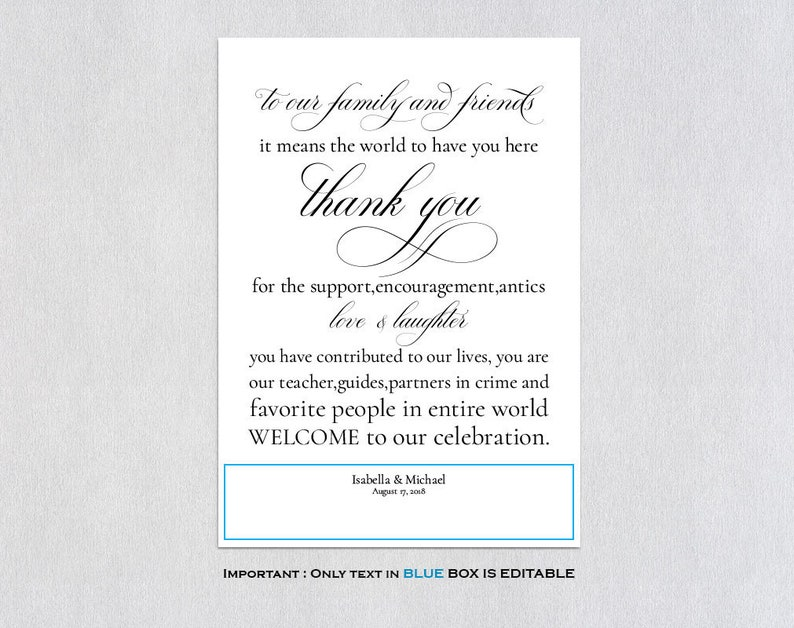 Personalized Thank You Wedding Welcome Bag ecc Wedding Welcome Bags Hotel Welcome Bags Welcome Bags Wedding Guest Bags