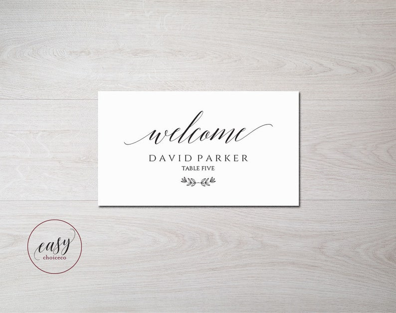 Wedding Place Cards Template Wedding Seating Card Rustic Elegance Instant Download ecc Escort Card Editable PDF Template
