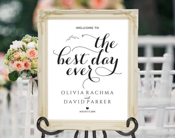 Welcome To Our Wedding Wedding Welcome Sign Template Diy Welcome Sign Printable Welcome Sign Wedding Welcome Poster Ecc 05