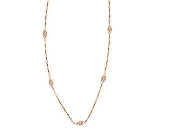 Brown and White Diamond Pendnat Goldenstar 0.12Ct