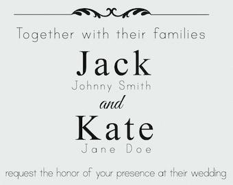 Monochromatic, Elegant Wedding Invitation (Printable)