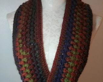 Trendy Varigated Infinity Scarf/Cowl in Sedona Colors