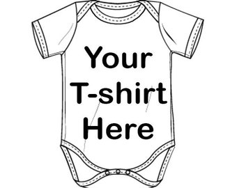 Custom Recycled T-shirt - Short Sleeve Baby Onesie