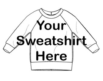 Custom Recycled Crew Neck Sweatshirt - Baby or Child Crew Neck Sweatshirt