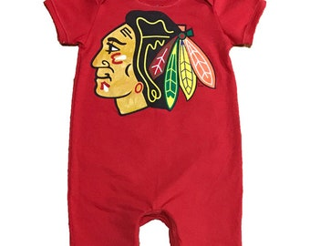 One of a Kind - Chicago Blackhawks Romper - 2T