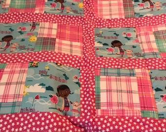 Doc McStuffins toddler quilt.