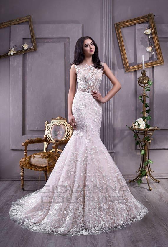 White European Wedding Dress Etsy