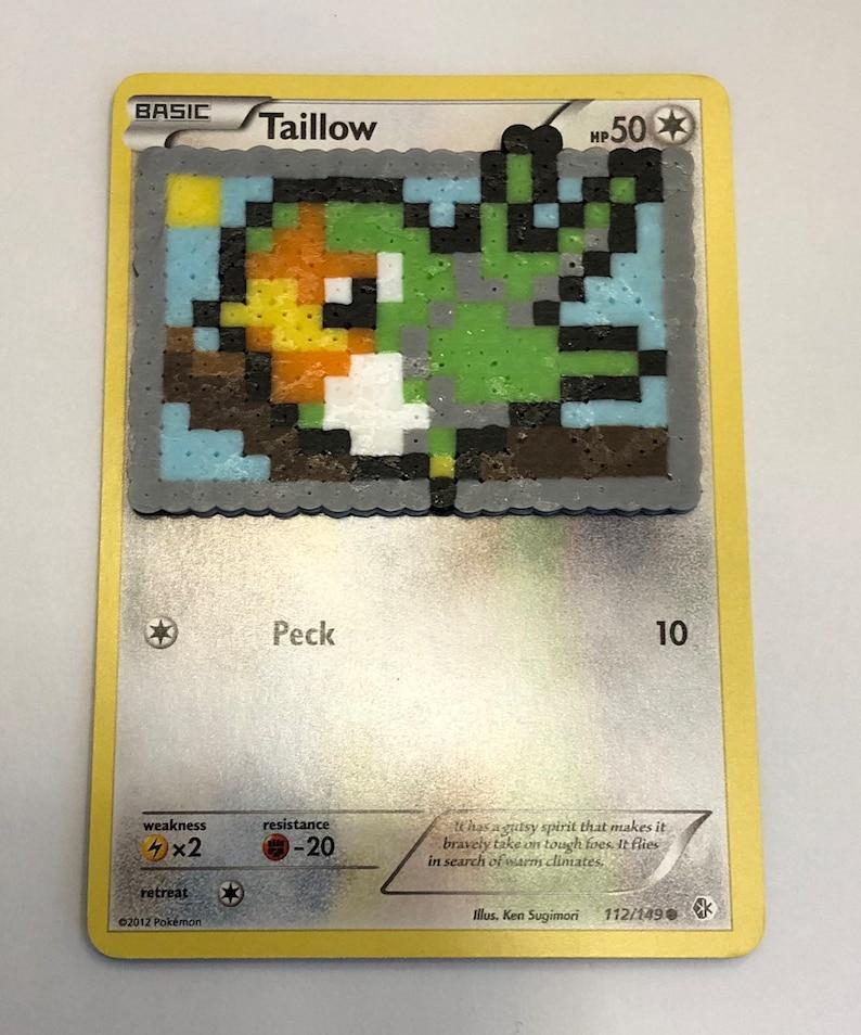 Custom Mini Perler Shiny Taillow Pokemon Card