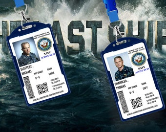 The Last Ship Tv Show Cosplay Fake Novelty Military ID Card | Tom Chandler, Mike Slattery,  | Free lanyard & card  holder