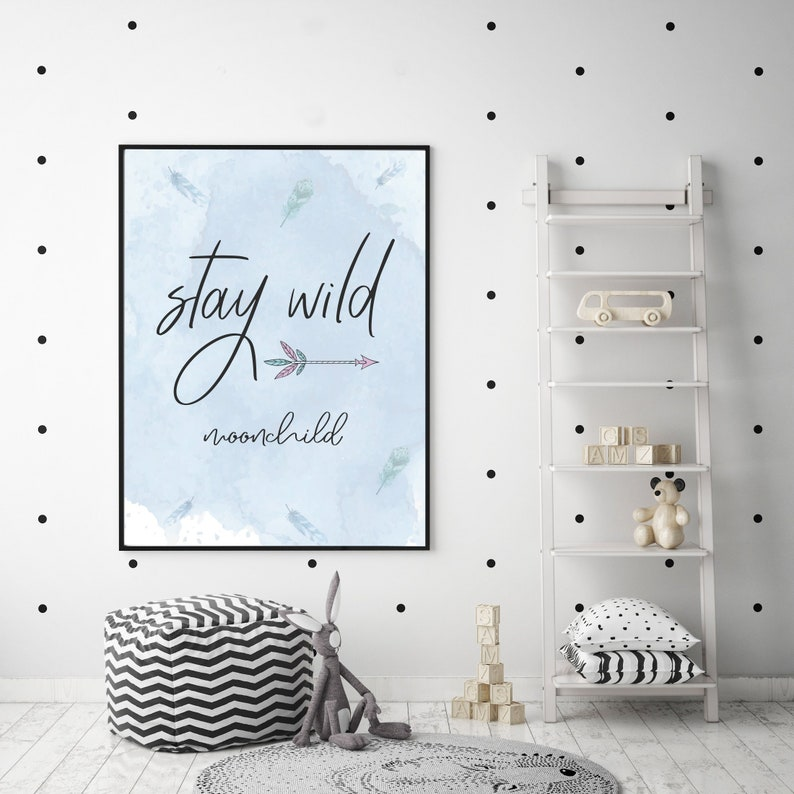 Boho Printable Kids Nursery for Room Decor  Boho style decor image 0