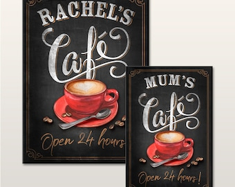 HOT TEA /& COFFEE SERVED HERE PVC BANNER CAFE NC008 OUTDOOR SIGN