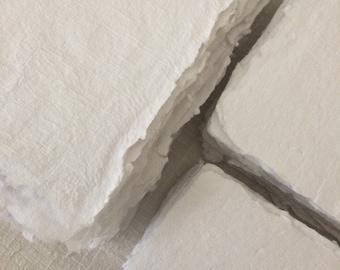 White  250 gsm- A4/B5/ B6 / A6 / Cards - Handmade paper craft paper -