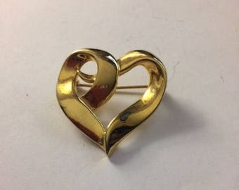 SALE!!!!!! 50% OFFGold heart shaped pin