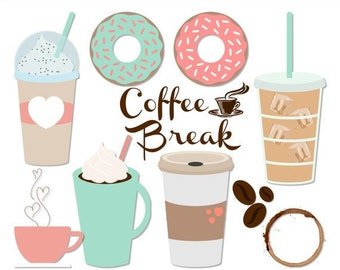 Coffee clipart | Etsy