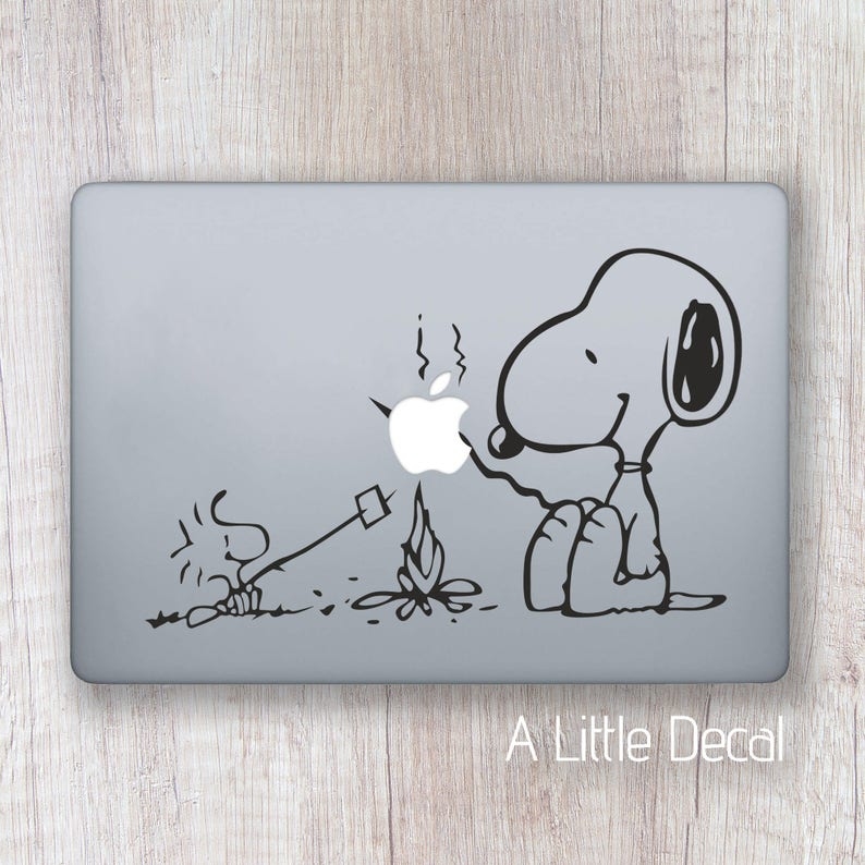 Snoopy Macbook Decal Snoopy Laptop Sticker Laptop Decal image 0