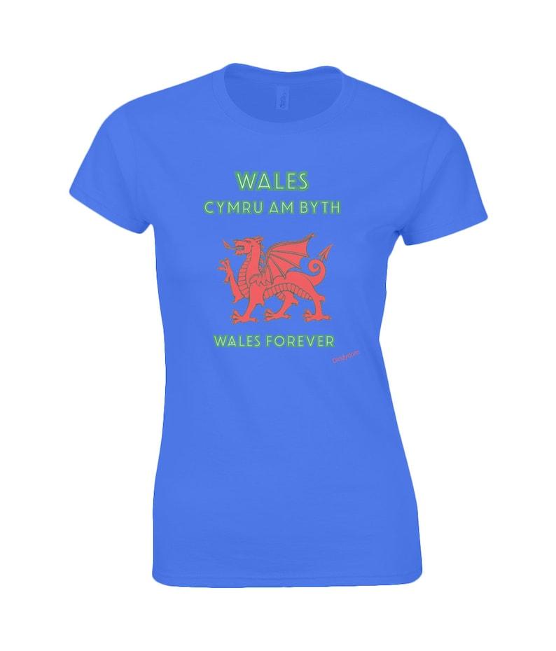 02fbb84d1 Ladies Wales Forever tshirt PremiumT-Shirt for men & women   Etsy