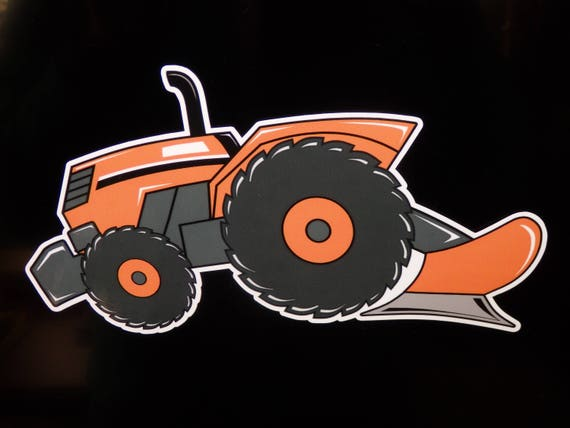 "KUBOTA TRACTOR VINYL DECAL STICKER SET OF 2 12/"" Wide"