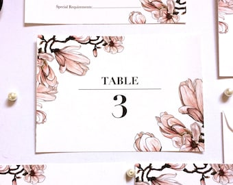 Wedding Table Numbers or Table Names in Magnolia Dawn
