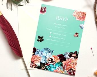 RSVP Wedding Cards in Spring Orient