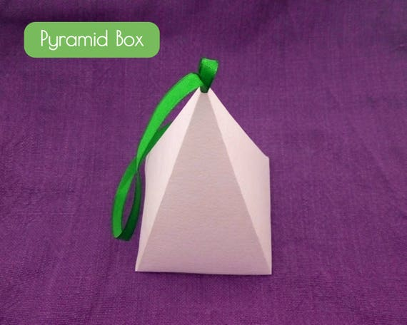 PDF Pyramid Gift Box With Ribbon Christmas Tree