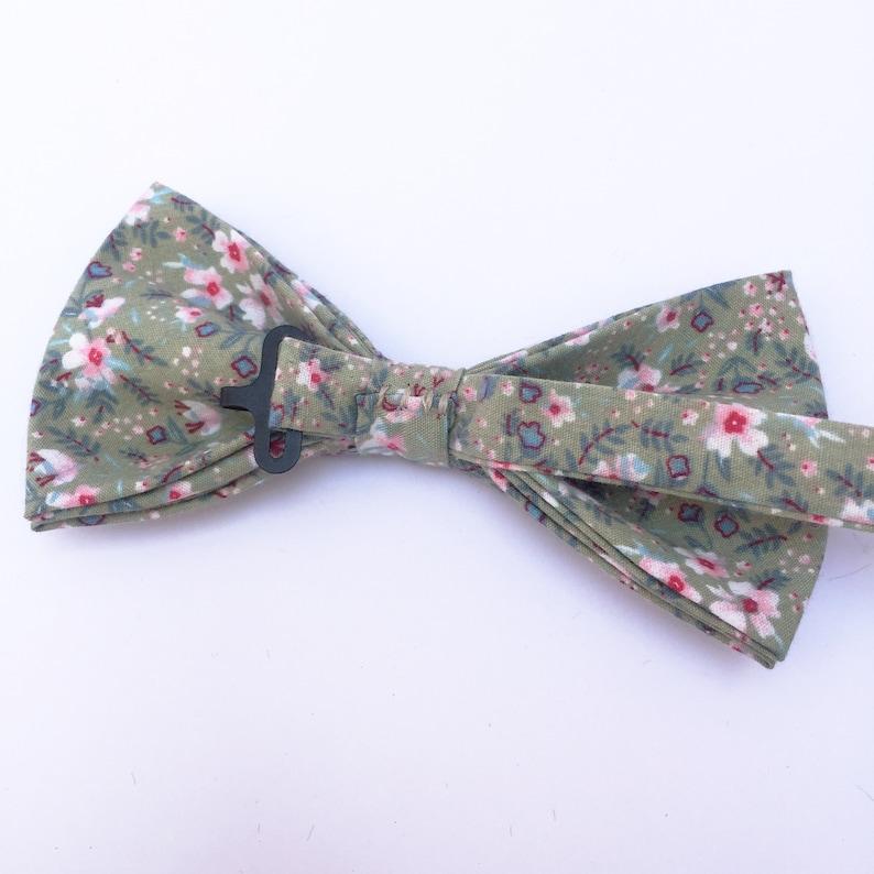 Bow Tie Pink Floral Green Cotton Bow Tie Diamond Bow Tie Wedding Bow Tie On Wedding Day Untied Bow Tie Groomsmen Bow Tie Bow Ties