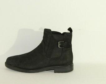 Vintage Men/'s Black Leather VAGABOND Pull On Chelsea Biker Riding Ankle Boots Size 7 41