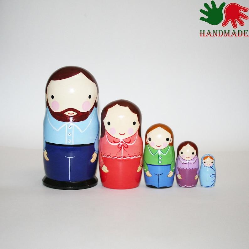"Nesting dolls Holland matryoshka Hand-painted Signed 7/""//18cm modern nesting doll"