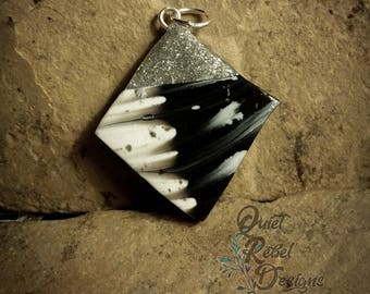 Abstract Diamond Shaped Pendant