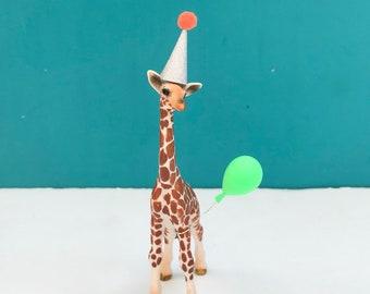 Giraffe Calf Cake Topper, Safari Party Cake Topper, Animal Cake, Party Animals, Safari Party, Giraffe Decoration, Cake Decoration, Keepsake