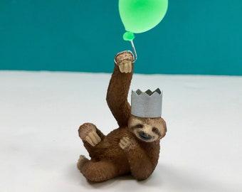 Sloth Cake Topper, Sloth Party Cake Topper, Jungle Animal Cake, Party Animals, Sloth Decoration, Cake Decoration, Keepsake