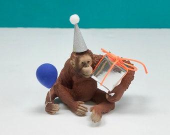 Orangutan Cake Topper, Orangutan Party Cake Topper, Jungle Animal Cake, Party Animals, Orangutan Decoration, Cake Decoration, Keepsake