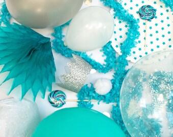 Frozen Party Kit,Frozen Party Supplies, Frozen Balloons, Frozen Decor, Frozen Tableware, Frozen Games, Frozen Party Bags