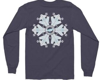 Surfboard Snowflake long sleeve shirt • Christmas shirt • Winter shirt • shirt for surfers