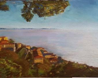 Pastel Cortona landscape print
