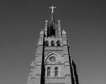 Churches Of Charleston, SC Black and White of Cathedral of Saint John the Baptist