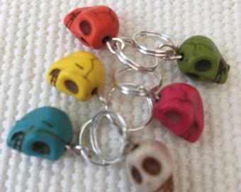 Skull Stitch Marker Set (6 Markers)