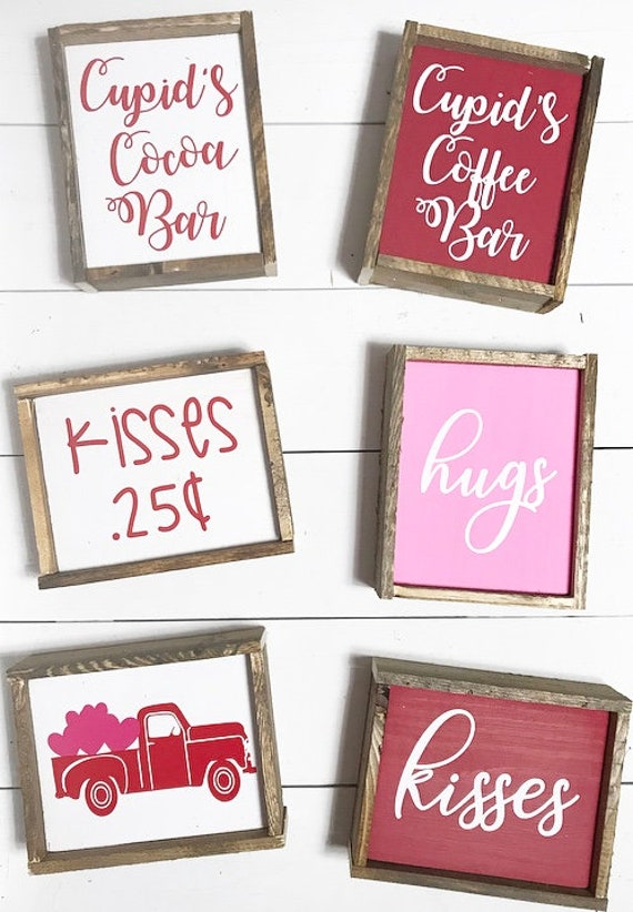Valentine S Day Home Decor Signs Coffee Bar Signs Etsy
