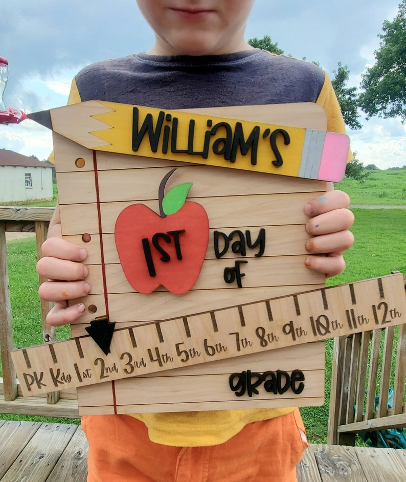 First Day of School Sign  Back To School  Reusable image 0