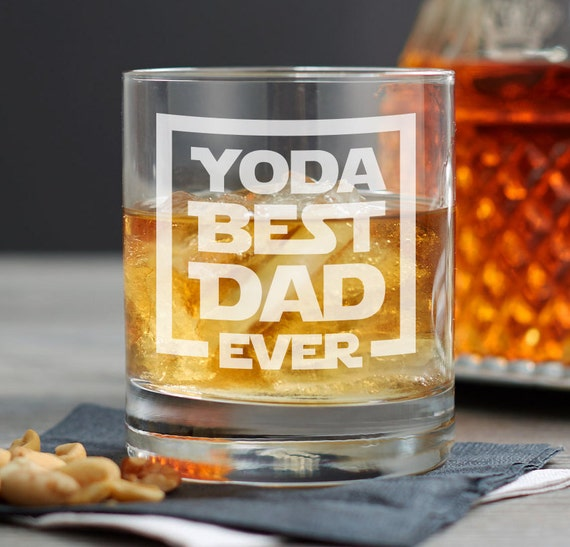 Geek Christmas Gifts.Yoda Best Dad Ever Whiskey Glass Geek Christmas Gifts For Dad Nerd Dad Gift Ideas Birthday Gift Ideas Gifts For Husband Engraved