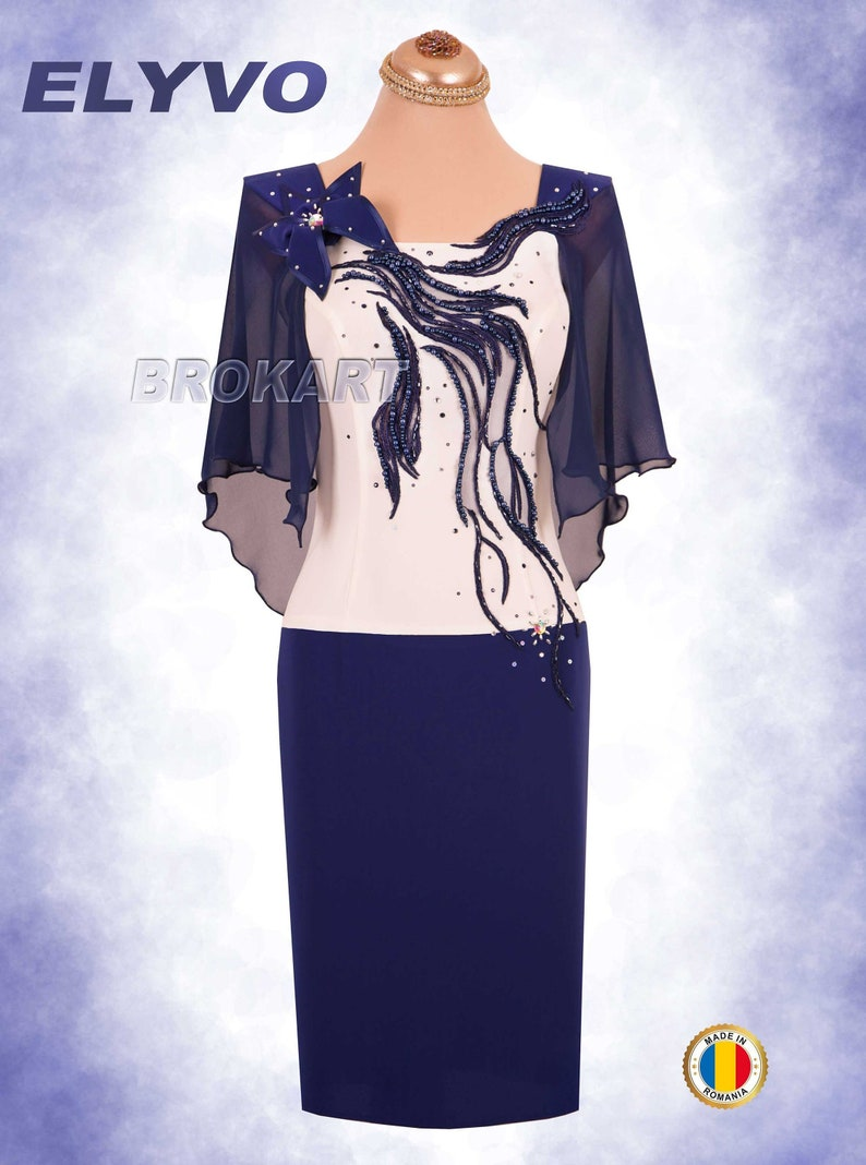 cc760f0c198 Evening Dress   Plus Size Dress   Mother of the Bride Dress