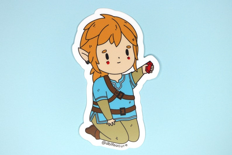 Breath of the Wild Link 3 inch Weatherproof Sticker | The Legend of Zelda  Car Decal, LoZ Bumper Sticker, Nintendo Switch Stickers