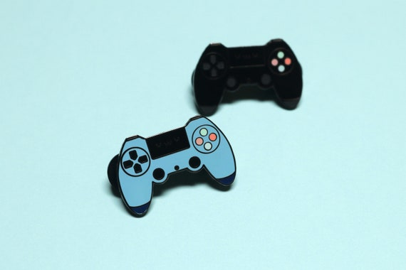 Kawaii Console Club – uwu faced Sony PS4/Playstation 4 Controller – Blue  and Black – Perfect Gift for Console Gamer