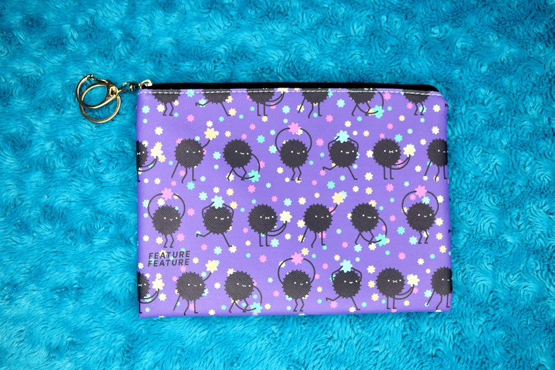 Cute Soot Sprite And Konpeito Cosmetic Pouch Inspired By Etsy