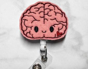 Badge Reel/Brain Badge Reel/Neuroscience Retractable ID Badge Holder/Neurology Badge/Neuro Nurse/RN Badge Reel/Nurse Badge Reel/Nurse Gift